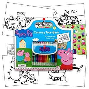 Buy Peppa Pig Art Activity Set With Coloring Book Pages Stickers Amp Twist Up Crayons Also
