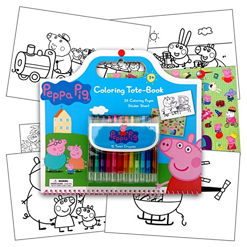 Peppa Pig Art Activity Set With Coloring Book Pages, Stickers & Twist-Up Crayons, Also Included Is 1 Large 3X3 inch Separately Licensed Coloring Sticker (Full Size Coloring Books compare prices)