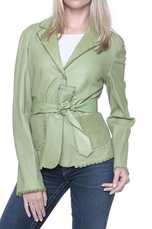 Cristiano di Thiene Damen Jacke Lederjacke , Farbe: Gruen kaufen