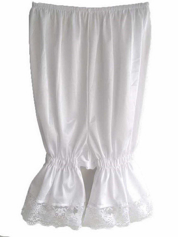 Frauen Handgefertigt Halb Slips UL2WH WHITE Half Slips Nylon Women Pettipants Lace