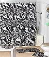 17 Piece Black White Zebra Bathroom A…