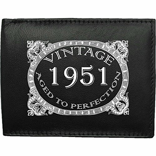 1951-millsime-mri-g--la-perfection-Portefeuille-Pour-Hommes-En-Cuir-Noir-cuir-velours-cadeau-prsent-humour-plaisanterie-blague-plaisanterie-drle-humoristique