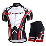 Sponeed Men's Bicycling Jersey Cycling Uniform Short Sleeve US XL Red Multi