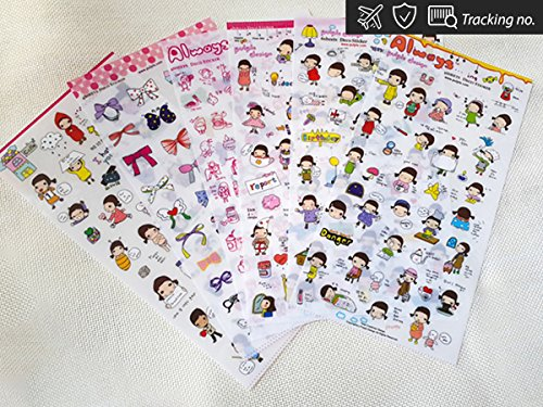 Always Cute Girls Stickers Diary Scrapbook Deco Calendar Label Crafts 6 sheets (Cute Number Stickers compare prices)