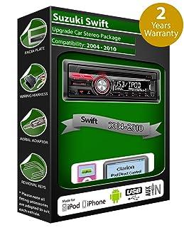Suzuki Swift de lecteur CD et stéréo de voiture radio Clarion jeu USB pour iPod/iPhone/Android
