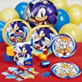 Sonic the Hedgehog Party Supplies - Standard Party Pack for 16