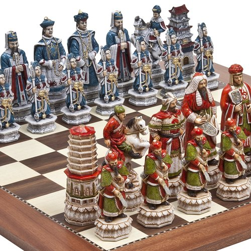 "Great Wall of China Luxury Chessmen from Italy & Astor Place Chess Board Giant Size: King 5 3/4"" at Amazon.com"