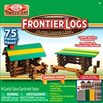 Ideal Frontier Logs 75 Piece Classic Wood Construction Set