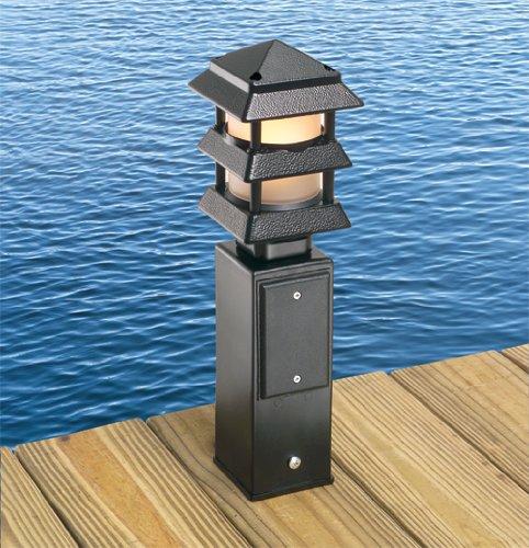Arlington Industries GPD9B Gard N Post Outdoor Deck Mount Light Post For Outl