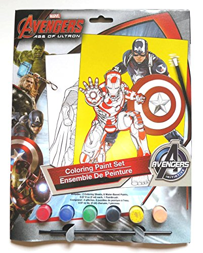 Marvel avengers fun activity bundle wall stickers for Avengers wall mural amazon