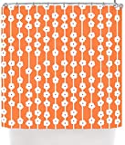 "Kess InHouse Heidi Jennings ""Orange You Cute"" Tangerine White Shower Curtain, 69 by 70-Inch"