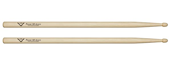Vater Power 5B Hickory Drum Sticks with Acorn Tip, Pair