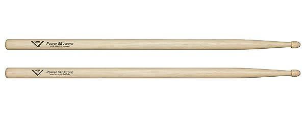 Vater Power 5B Hickory Drum Sticks with Acorn Tip, Pair