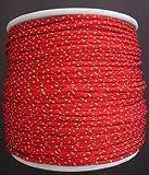Gepolight Flechtleine/Flechtschnur/Seil stark reflektierend 4.5mm-10meter rot