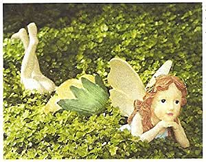 Whimsical 3 piece garden fairy statue for Whimsical garden statues