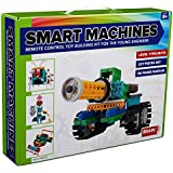 4-In-1 Robot Kit for Kids and Adults - Make and Control Your Own RC Robots. Educational Remote Control Building Set With Reusable Blocks, No Soldering. Model SM1702 - Tank, Race Car, Bug and Knight