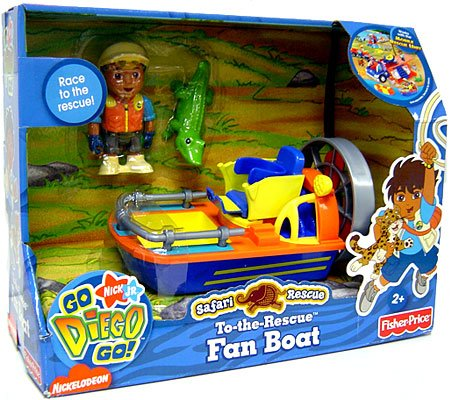 Buy Go Diego Go! Animal Adventure Safari Rescue Vehicle Fan Boat