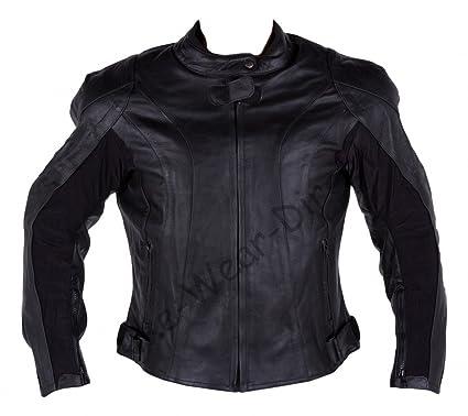 Qualité des femmes de peau de vache de moto en cuir Racing Jacket