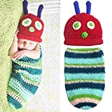 Babe Mall Inc® Fashion Unisex New born Boy Girl Crochet Knitted Baby Outfits Costume Set Photography Photo Prop Caterpillar