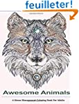 Awesome Animals Adult Coloring Books:...