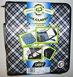 Case-It The Classic 3-Ring Zippered Binder 2\