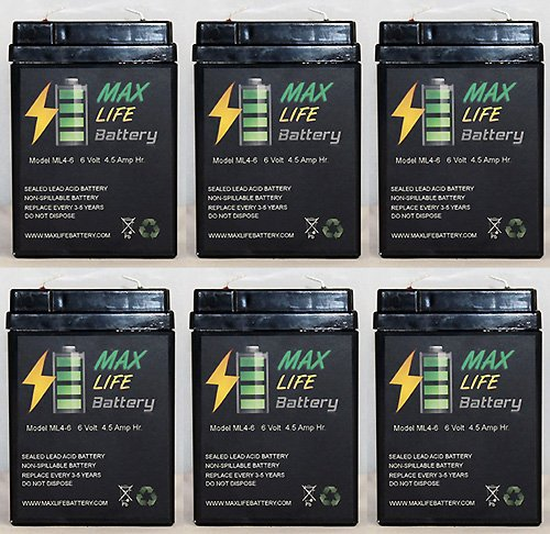 Mojo Robo Duck Decoy Game Deer Feeder Rechargable Battery Replacement 6V 4.5Ah - 6 Pack