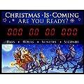 "Countdown Today CD-CHRIS1 Christmas Countdown Clock Sign, 23"" x 17"" x 2"", Black"