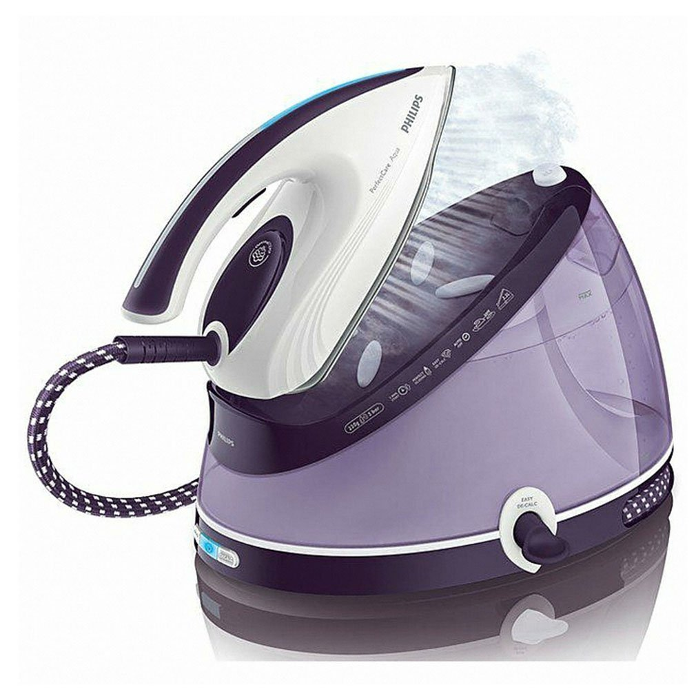 New PHILIPS perfectcare Aqua Iron GC8640 Pressure 5bar гладильная система philips gc 8625 30 perfectcare aqua белый фиолетовый
