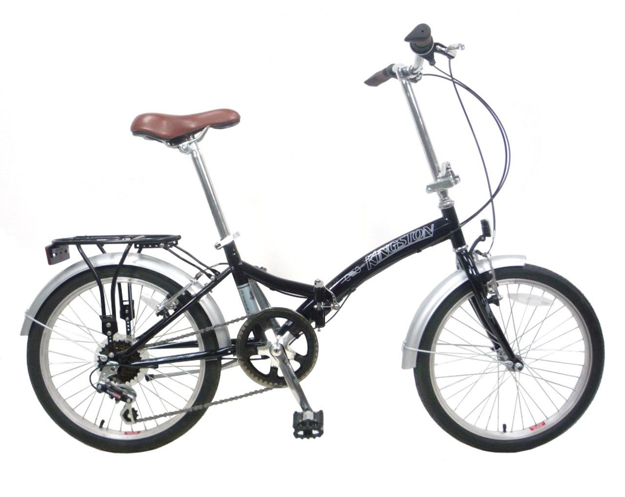 Kingston freedom folding bicicleta negro