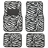 61E3PkLJNDL. SL160  Zebra Black & White Carpet Car Floor Mats