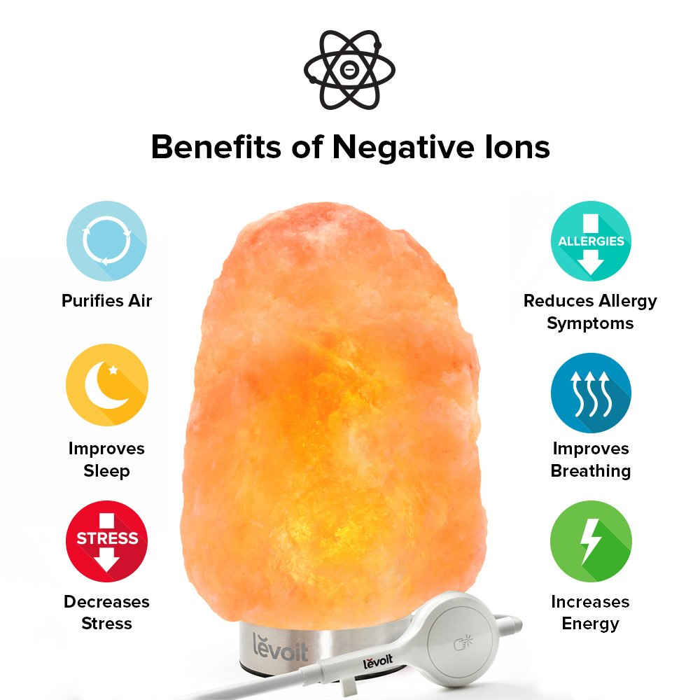 Levoit Kyra Himalayan Salt Lamp(5-7 lbs),Hand Carved Natural Hymilian Salt Rock Crystal Hymalain Salt Lamps,Touch Brightness Dimmer Switch,Stainless Steel Base,3 Bulbs,UL-Listed Cord and Gift Box