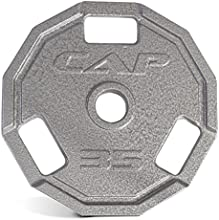 Cap Barbell Olympic 12 Sided Cast Iron Grip Plate 2-Inch (Single), 25 lb.