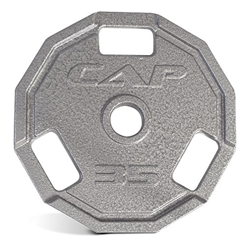 cap-barbell-olympic-12-sided-cast-iron-grip-plate-2-single-25-lb-gray