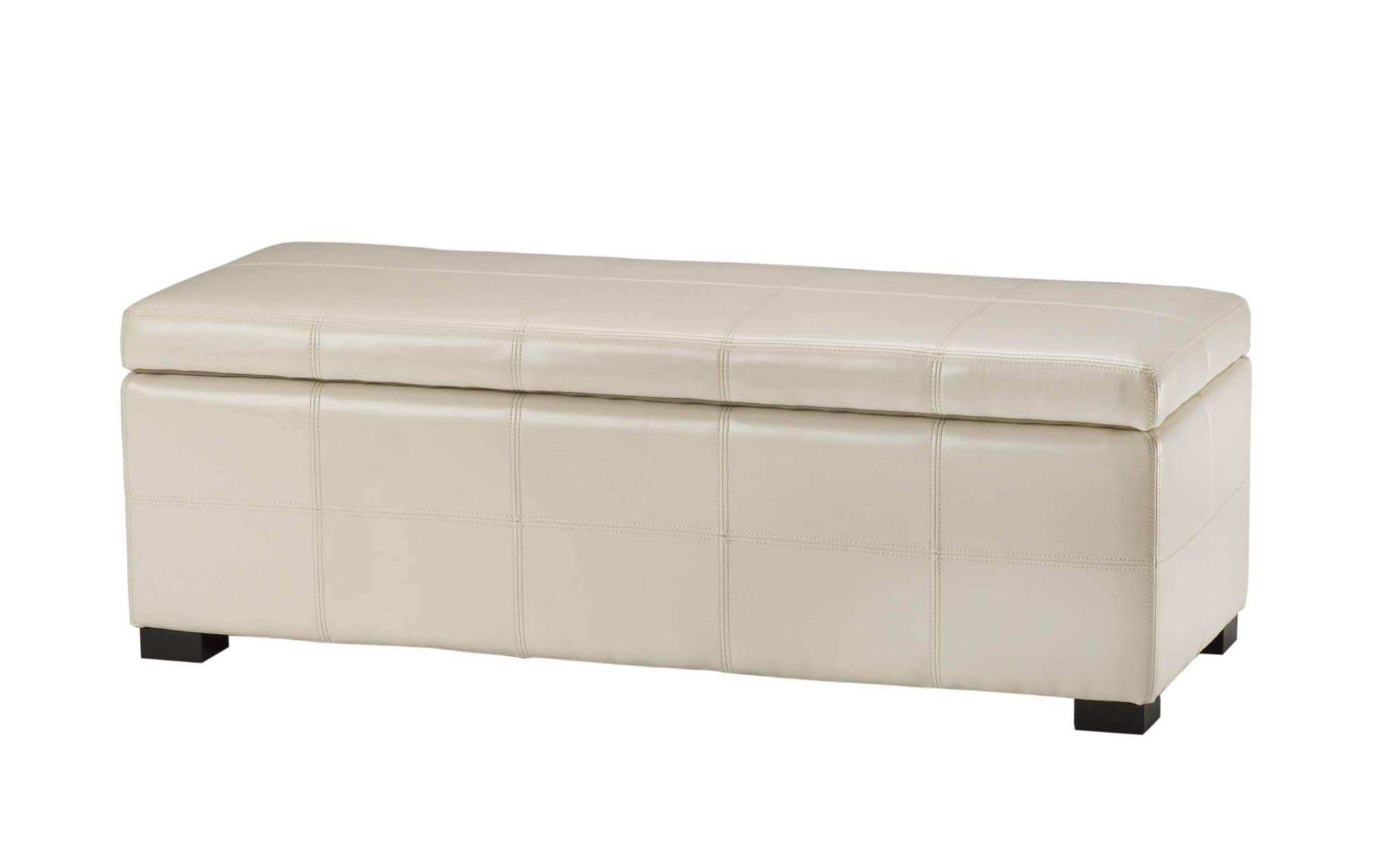 Safavieh Hudson Collection Williamsburg Brown Leather Large Storage Bench