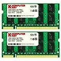 Komputerbay Notebook-Speicher (8�GB - 2�x 4�GB; 200-Pin 667�MHz PC2-5300/PC2-5400 DDR2 SODIMM)