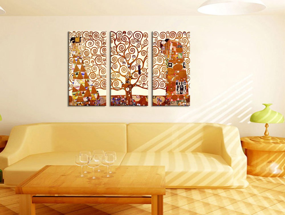 Canvas Wall Art Stretched Canvas Print - Famous Art Reproduction Tree of Life