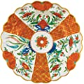 Caspari Die-Cut Placemats, Orange Floral Plate, Set of 4