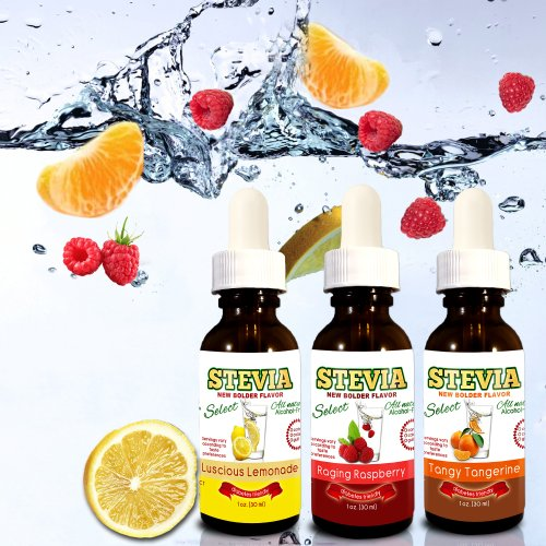 Water Flavoring-Stevia Water Enhancer - 3 Pack (1 oz. bottles) Stevia Drink Flavoring - 45 Bold-90 Light Sugar Free Drinks - NO Artificial Sweeteners! 'Natural Flavors' Extracted From Real Fruit - Reap The Benefits of Drinking Water For Healthy Way To Los