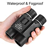 OMZER 12X25 High-Powered Waterproof Fogproof Binoculars with Low Light Night Vision, Suitable for Adults and kids, Compact Lightweight for Bird Watching, Hunting, outdoor sports, BAK4 FMC Coated