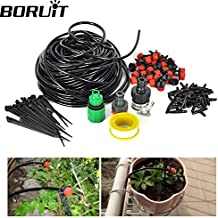 Generic Black : 25m 30 Drip Nozzles DIY For Garden Watering Sprinklers Plants Irrigator Dripper Hose Kits Greenhouse...