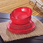 Melamine Dinnerware 12PC Set (Red)
