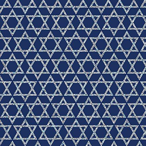 Jillson Roberts Hanukkah Gift Wrap, Shield of David, 6 Roll-Count (XR768)
