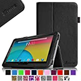 "Fintie Premium PU Leather Case Cover for 10.1-Inch Android Tablet PC inclu. PolaTab 10.1 Inch (Q10.1 / Elite Q10.1 / Elite Q10.2), Fusion5 10.1 Inch (FINITE4 / Xtra SPACE4 / Xtra POWER4), JYJ 10 Inch, Dragon Touch A1/A1X 10.1 Inch, Time2 10.1 Tablet, D2D 10.1 inch Android Tablet, iropro 10.1 Inch Tablet, TONBUX 10.1"" Tablet, BTC FLAME Q10.1, Tagital T10 10.1"" Tablet (PLEASE check the complete compatible tablet list under Product Description) - Black"