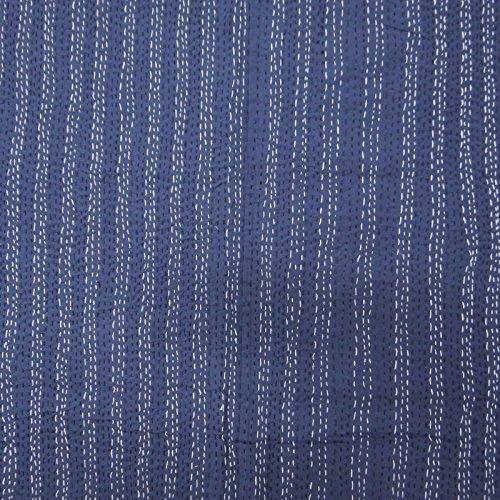 Pure Cotton Queen Size floral Gudri Kantha Stitch Quilt Bed étnico Cubierta 105 X 87