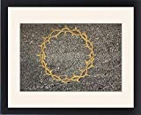 Framed Print of Crown of thorns sculpted on a grave, Milano monumental cemetery, Milan