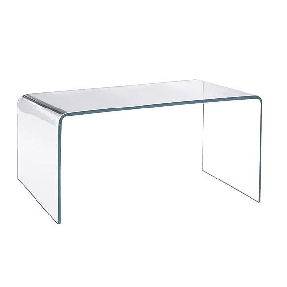 Tavolino da caffè in acrilico–12mm in acrilico trasparente, con bordi lucidi, British Made