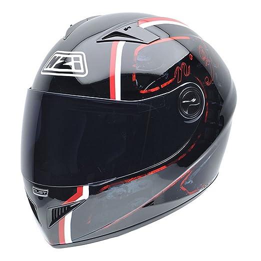 NZI 050261G043 Must NR Casque de Moto, Noir/Blanc/Rouge, Taille : XS