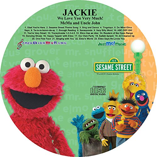 Children's Name Personalized SONGS WITH MY NAME Music CD - SING ALONG WITH ELMO AND FRIENDS -