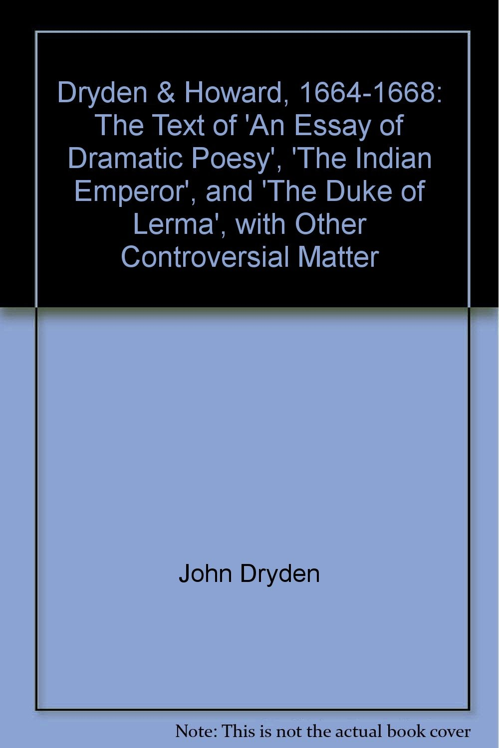 an essay of dramatic poesy wiki The essay is a discourse between 4 speakers including an essay of dramatic poesy by john dryden | poetry foundationthough he died in 1700.