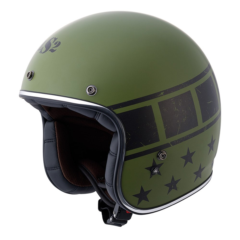 LS2 Kurt Military Bobber Motorcycle Helmet (Green, XX-Large) 0